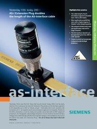 ASI Extension Plug Flyer - Siemens Industry, Inc.