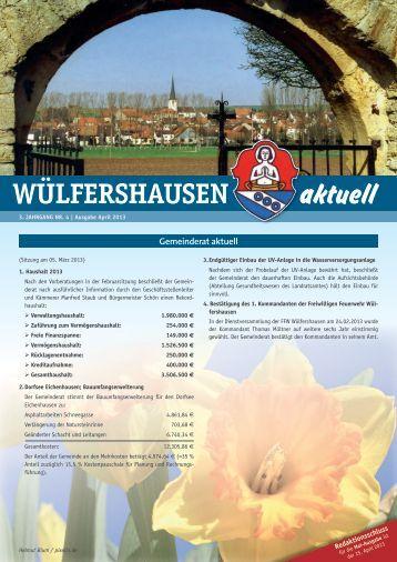 Ausgabe 04/2013 - Onlineseite der Gemeinde Wülfershausen ad ...