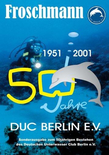 Lubiläumsheft Deutscher Unterwasser Club Berlin e.V.