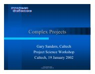 Complex projects, collaborations, international ... - Project Science