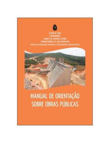 manual de orientação sobre obras públicas - Controladoria Geral do ...
