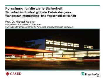 Wandel zur Informations- und Wissensgesellschaft - Security in ...