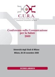 Conferenza sulla Comunicazione per la Salute 2009 - Medicina e ...