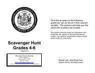 Scavenger Hunt Grades 4-6 - Wisconsin Veterans Museum