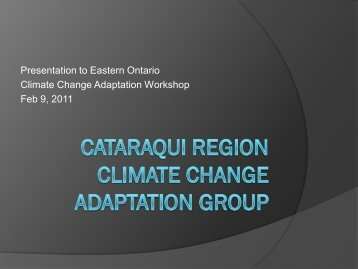 Cataraqui Region Climate Change Adaptation Group