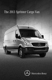 The 2013 Sprinter Cargo Van - TheSprinter.ca
