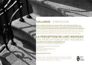 Programme et abstraits français - anglais - art nouveau news