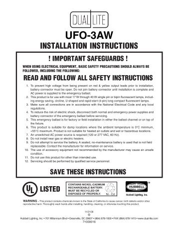 lampak ufo 3aw installation instructions dual lite pto wiring diagram muncie pto solenoid switch \u2022 wiring diagrams  at mifinder.co