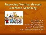 Improving Writing through Sentence Combining