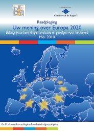 Uw mening over Europa 2020