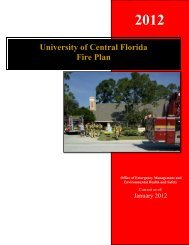 University of Central Florida Fire Plan - UCF Facilities and Safety