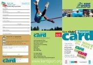 98206 Club Connect Leaflet - Kent Sport