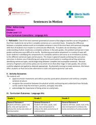 Sentences in Motion - Wolf Creek Public Schools