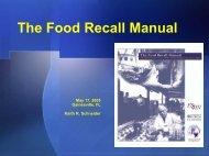 The Food Recall Manual