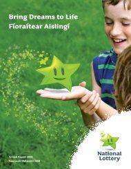 Bring Dreams to Life Fíoraítear Aislingí - National Lottery