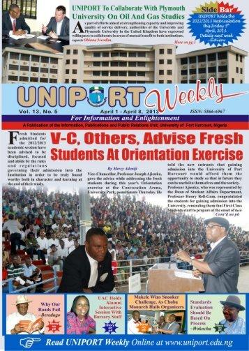 Vol. 13 No. 5 April 1 - 8, 2013