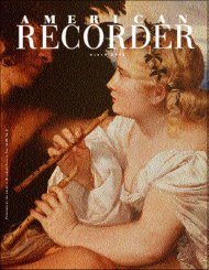 M A R C H P A R S , V . XLIII, N . 2 - American Recorder Society