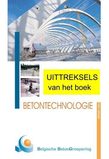 uittreksels van het handboek betontechnolgie - GBB