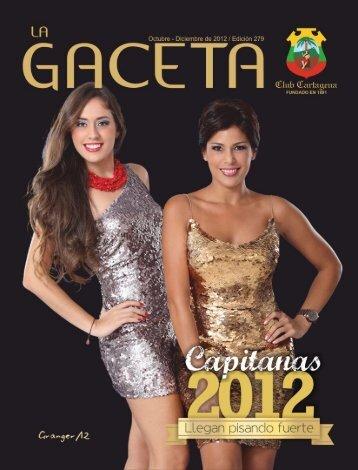 La Gaceta 279 | Octubre - Diciembre 2012 - Club Cartagena