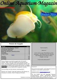 Online Aquarium-Magazin Magazin kostenlos und unabhängig ...