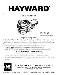 Hayward Super II - Home - Swimming Pool Parts Filters Pumps ...