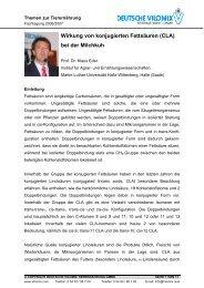 (CLA) bei der Milchkuh - Deutsche Vilomix Tierernährung GmbH
