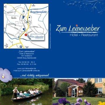 Restaurant - Hotel und Restaurant zum Leineweber in Burg ...