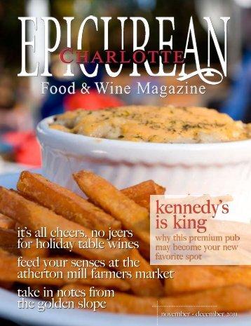 kennedy's is king - Epicurean Charlotte Food & Wine Magazine