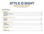 QUICK START GUIDE - Stylesight