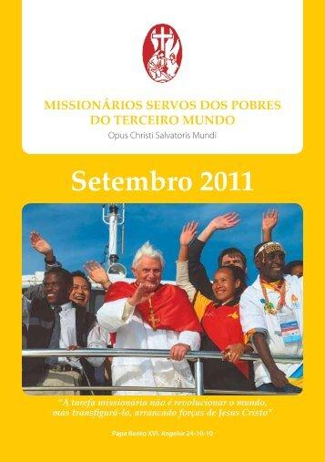 Setembro 2011 - Misioneros Siervos de los Pobres del Tercer Mundo