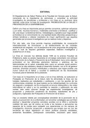 EDITORIAL El Departamento de Salud Pública de la Facultad de ...