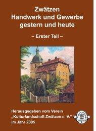 Übersichtskarte von Zwätzen, alter Ortskern - Kulturlandschaft ...