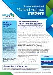 August 2013 - Tasmania Medicare Local