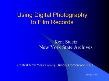 Using Digital Photography to Film Records - Austrian Family History