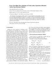 Exact Travelling Wave Solutions of Toda Lattice Equations Obtained ...