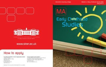 Early Childhood Studies - Study in the UK