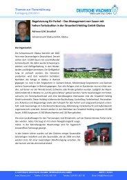 Begeisterung für Ferkel - Deutsche Vilomix Tierernährung GmbH