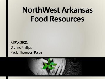 NorthWest Arkansas Food Resources - Faculty Web Pages