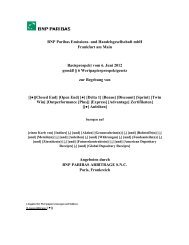 BNP Paribas Emissions- und Handelsgesellschaft mbh Frankfurt am ...