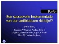 Een succesvolle implementatie van een antibioticum richtlijn!? - SWAB