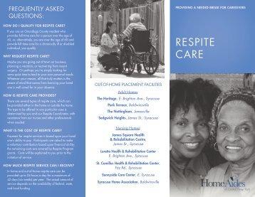 RESPITE CARE - Home Aides of CNY
