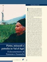 pietre, miracoli e petrolio in val d'agri - Consiglio Regionale della ...