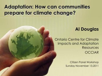 Adaptation: How can communities prepare for climate change?