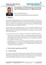 Auswirkungen von Osterweiterung, Agrarreform und WTO auf die ...
