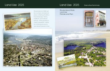 Vision 2025 Rhode Island Land Use Policies and Plan