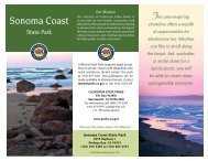Sonoma Coast SP Brochure - Stewards of the Coast and Redwoods