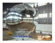 Echo Balloon Satellites.ppt [Read-Only] - Nicap