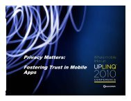 Privacy Matters: Fostering Trust in Mobile g Apps - Uplinq