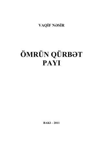 ömrün qürbət payı - Azərbaycan Milli Kitabxanası