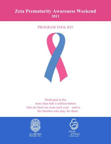 Zeta Prematurity Awareness Weekend - Zeta Phi Beta Sorority, Inc ...